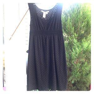 Max Studio Black Lace Dress with Empire Waist